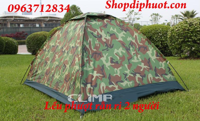 Lều cắm trại rằn ri du lịch, dã ngoại dành cho 2 người rẻ nhất 3
