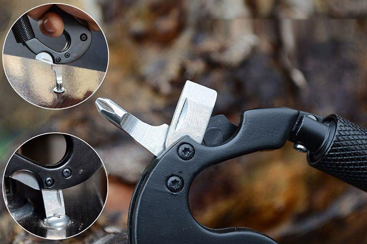 Móc khóa dao vít đa năng 5 in 1 - chất lượng cao - dành cho phượt thủ 1