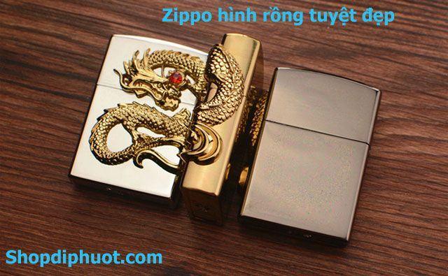 zippo mỹ chất lượng hình rồng