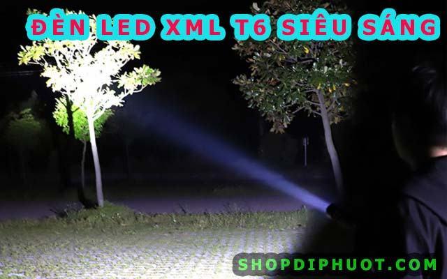 Đèn pin siêu sáng XML-T6 - Led Cree độ sáng 1000 lumen