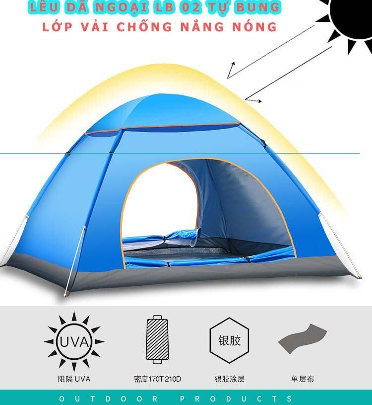 lều cắm trại 4 người tự bung llb02